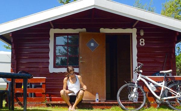 Raquel Jorge no Bygholm Camping, na Dinamarca. Foto: Raquel Jorge