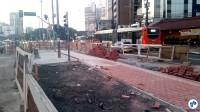 A obra indica que uma boa área para pedestres deve ser reservada nessa travessia. Foto: Willian Cruz