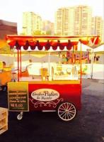 """Food bike da marca """"O Melhor Pudim do Mundo"""". Evento acontece domingo, 23/8, das 11 às 19hs. Foto: Divulgação"""