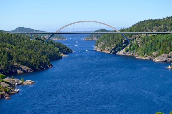 Fronteira entre Noruega e Suécia. Foto: Arquivo pessoal