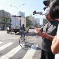Contagem de ciclistas realizada em cruzamento da Vital Brasil reafirma necessidade de mais infraestrutura no local. Foto: Fabio Miyata