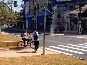 Contagem de ciclistas no Largo do Socorro foi feito a pedido do coletivo Bike Zona Sul. Foto: Divulgação/Ciclocidade