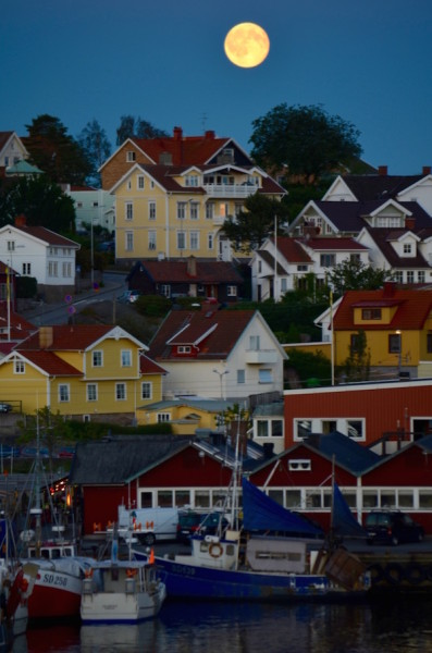 A lua em Stromstad. Foto: Raquel Jorge