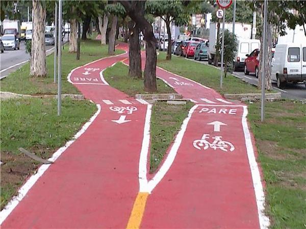 Em Sorocaba (SP), pista foi dividida para evitar a derrubada de árvores. Foto: Marcos de Sousa