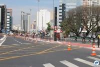 Inauguração de ciclovia próxima ao Metrô Paraíso teve abertura da Avenida Bernardino de Campos à população. Foto: Gulherme Venaglia