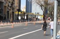 Ciclovia na Av. Bernardino de Campos interliga as construções que já existiam na Avenida Paulista e na Rua Vergueiro. Foto: Gulherme Venaglia