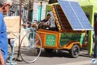 A organização ambiental Greenpeace também participou, apresentando projetos de geração de energia solar através de bikes. Foto: Gulherme Venaglia