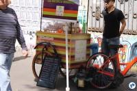Food bike trouxe à Paulista Aberta produtos naturais da Amazônia. Foto: Gulherme Venaglia