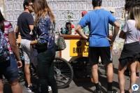 Dentre as opções de gastronomia, food bike ofereceu cafés customizados na Avenida Paulista. Foto: Gulherme Venaglia
