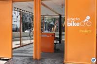 Bicicletário na ponta da Avenida Paulista, próximo à Rua da Consolação (Praça dos Arcos). Foto: Gulherme Venaglia