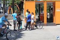 Atividade do Bike Anjo na Praça dos Arcos. Foto: Flavio Bonanome