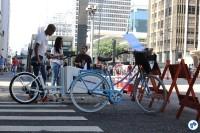 Um dos pontos da Gincana do Pedal. Foto: Flavio Bonanome