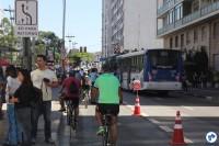 Trecho da Ciclofaixa de Lazer, ao lado da Praça do Ciclista. Foto: Flavio Bonanome