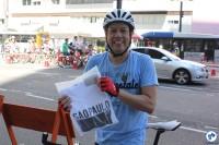 Márcio Avelar, de Curitiba, aproveitou o domingo em São Paulo para participar da Gincana do Pedal. Foto: Flavio Bonanome