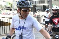 Willian Cruz, do Vá de Bike, esteve presente nas atividades do dia. Foto: Flavio Bonanome