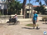 Atividade do Bike Anjo ensinava a andar de bicicleta, na Praça dos Arcos. Foto: Ricardo Santos