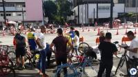Ponto da Gincana do Pedal, na Haddock com Paulista. Foto: Willian Cruz