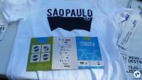 Camiseta, adesivos e passaporte preenchido da Gincana do Pedal. Foto: Willian Cruz