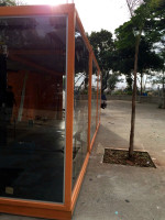 O bicicletário, durante a fase de construção. Foto: PMSP/Divulgação