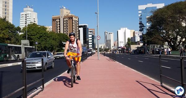 Ciclistas já utilizam boa parte do trecho novo. Foto: Willian Cruz
