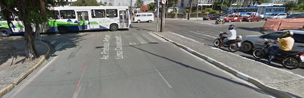 Ciclofaixa norte. Imagem: Google Street View/Reprodução
