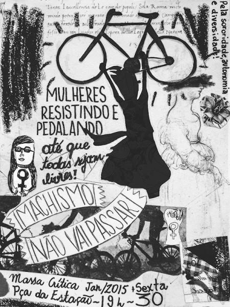 Massa Crítica Feminista: frente de luta anti-machismo criada por mulheres e para mulheres. Imagem: Massa Crítica Feminista