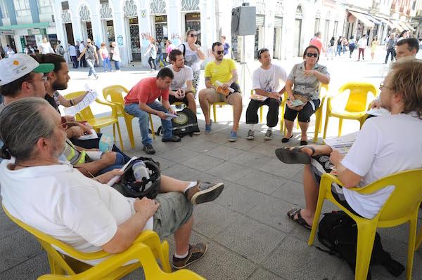 Primeira reunião realizada entre ciclistas e poder público. Foto: Divulgação/PMC