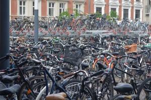 Profusão de bikes por todos os cantos. Foto: Raquel Jorge