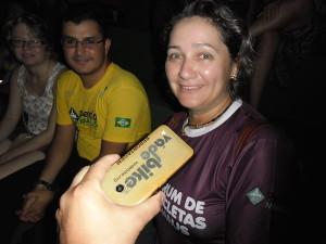 Cláudia Valente, ativista do Pedala Manaus. Foto: Fábio Costa