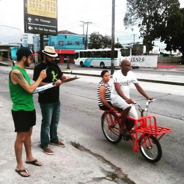 Contagem na avenida Caxangá. Fonte: Ameciclo