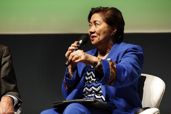 Mary Jane Ortega, prefeita da cidade de San Fernando, nas Filipinas. Foto: Mariana Gil/WRI Brasil Cidades Sustentáveis
