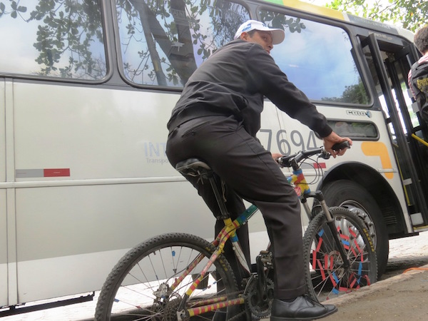 Um dos motoristas que participou do treinamento. Foto: Fabio Nazareth