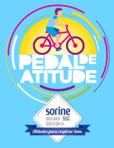 Logo da campanha Pedal de Atitude. Imagem: Divulgação