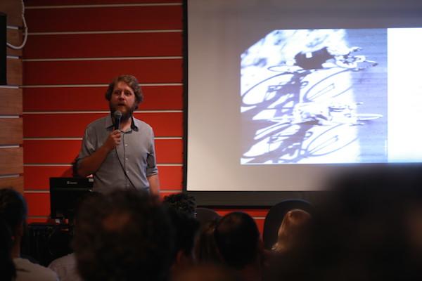 Daniel Guth, diretor da Ciclocidade, durante apresentação da pesquisa. Foto: Fabio Miyata