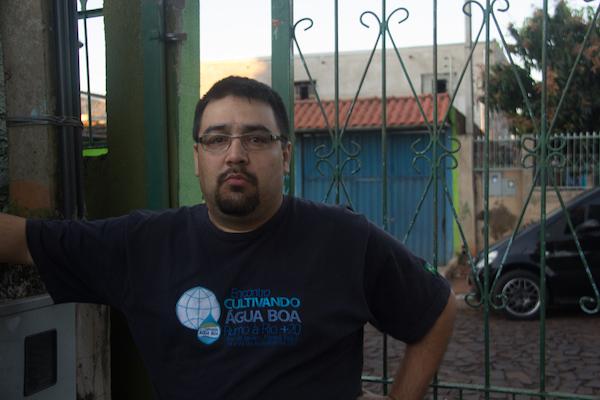 Luciano Castilha, que mantém a Casa do Ciclista. Foto: Pedro Sibahi