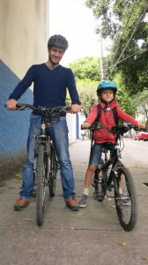 Pierre Sylvestre Panthet e seu filho Thomas. Foto: Federica Fochesato