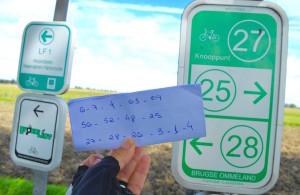 Indicação de rotas funciona como o jogo de ligar os pontos. Foto: Raquel Jorge