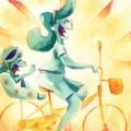 bicicleta amarela fb h