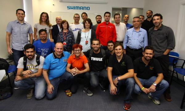 Os participantes do debate. Foto: JB Carvalho/Shimano
