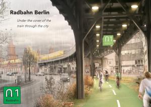 Concepção artística de trecho da Radbahn. Imagem: Radbahn Berlin