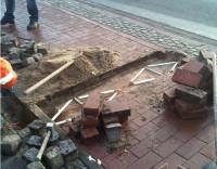 As espiras indutivas ficam abaixo do piso. Na foto, uma instalação feita no exterior, em piso similar ao da ciclovia paulistana. Foto: Eco-Counter/Divulgação