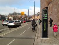 Totem semelhante ao de São Paulo, instalado em Estrasburgo (leste da França). Foto: Eco-Counter/Divulgação