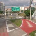 Fim da ciclovia na boca do viaduto estaiado Padre Adelino. Foto: Renato Lobo