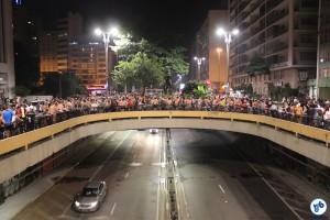 Concentração da Pedalada Pelada 2016 em São Paulo, na Praça do Ciclista. Foto: Flavio Bonanome