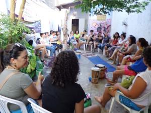 Há um ano, o grupo (ainda sem nome) se reunia pela primeira vez Foto: Sheryda Lopes