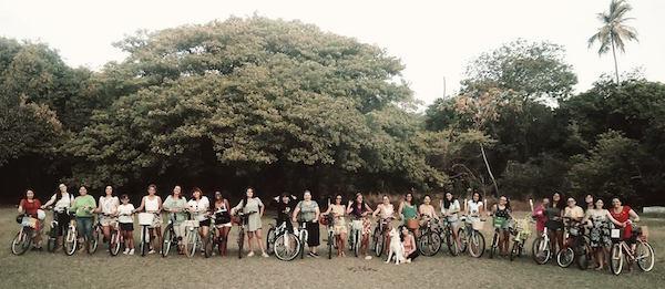 Confraternização das Ciclanas no final do ano passado. Foto: Ciclanas