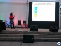 Melina fala sobre o plano de mobilidade de Osasco/SP. Foto: Fabio Nazareth