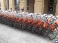 Bicicletas compartilhadas. Foto: Fabio Nazareth