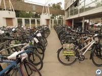 Estacionamento lotado de bicicletas em evento do Fórum. Foto: Fabio Nazareth