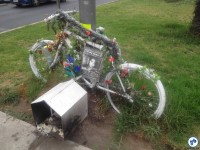 Santiago tambémn tem suas ghost-bikes. Foto: Fabio Nazareth